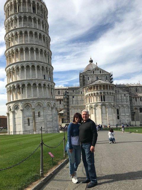 Олег Филимонов с женой во Флоренции - фото - фото 84013