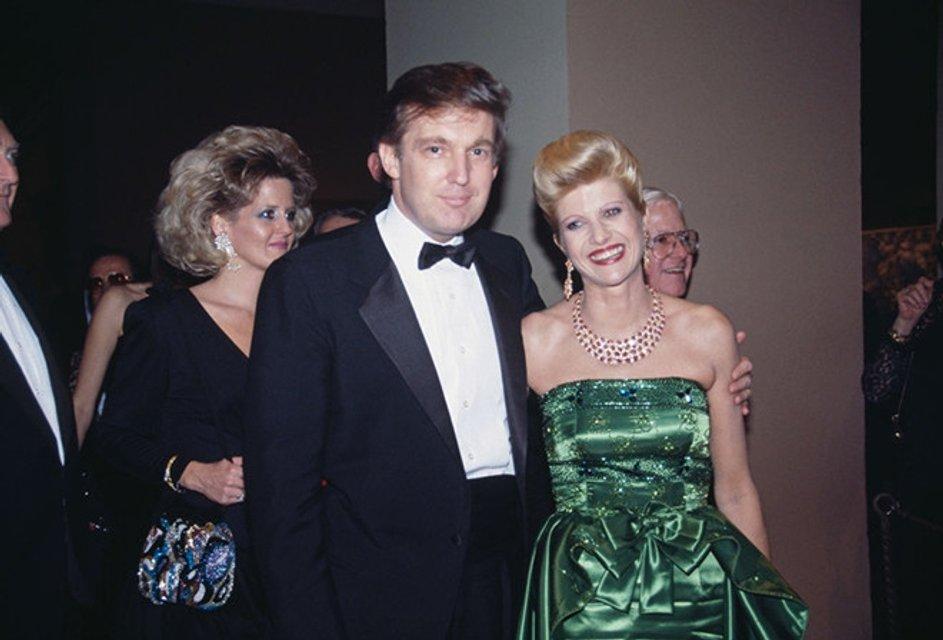 Фото Дональда Трампа с первой женой Иваной Трамп  - фото 79728