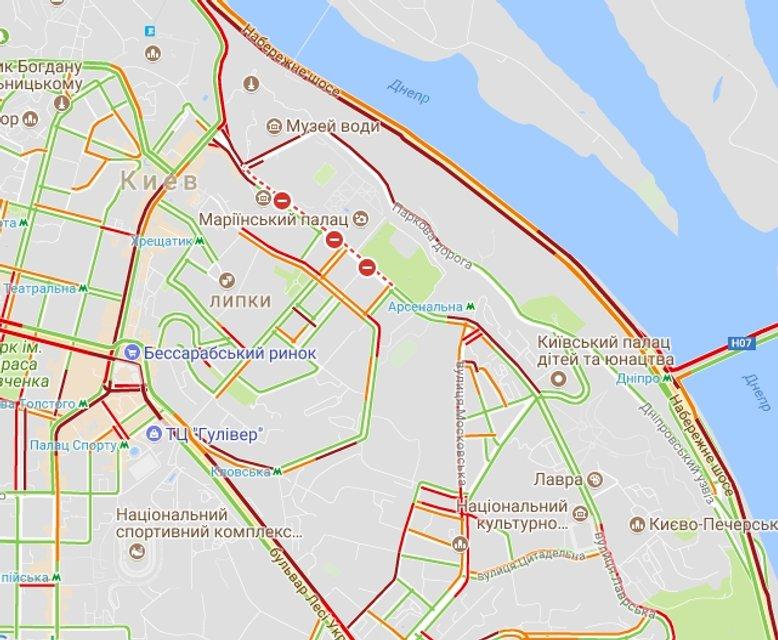 Огромные пробки: В Киеве произошло серьезное ДТП - фото 82347