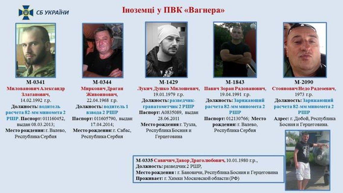 СБУ опубликовала данные сербов, которые воевали на стороне боевиков - фото 80844