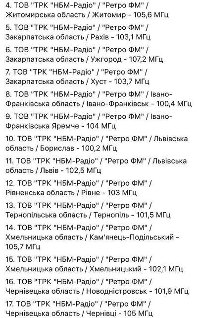Украинские радиостанции оставили без лицензии - фото 83394