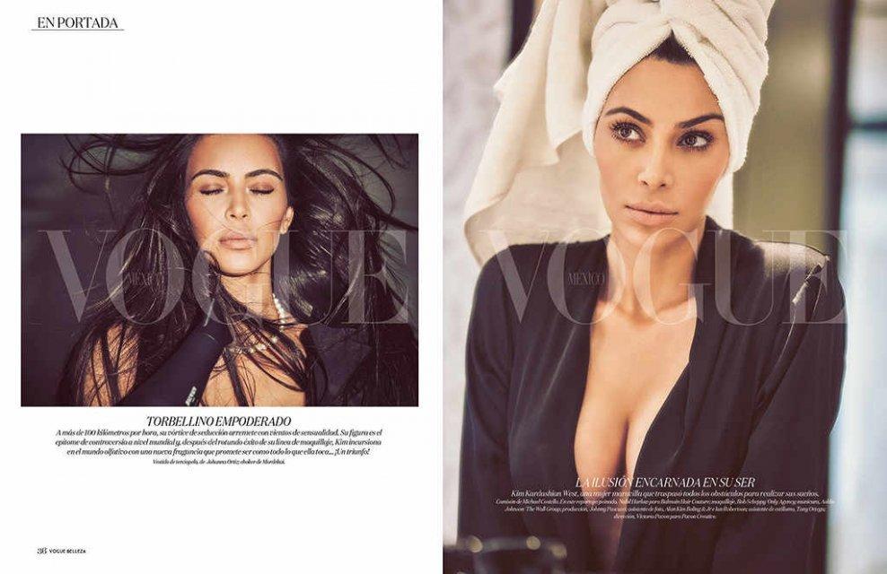 Обнаженная Ким Кардашьян снялась в роскошной фотосессии для Vogue - фото 80453