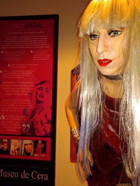 Вот так выглядит восковая Леди Гага - фото 83995