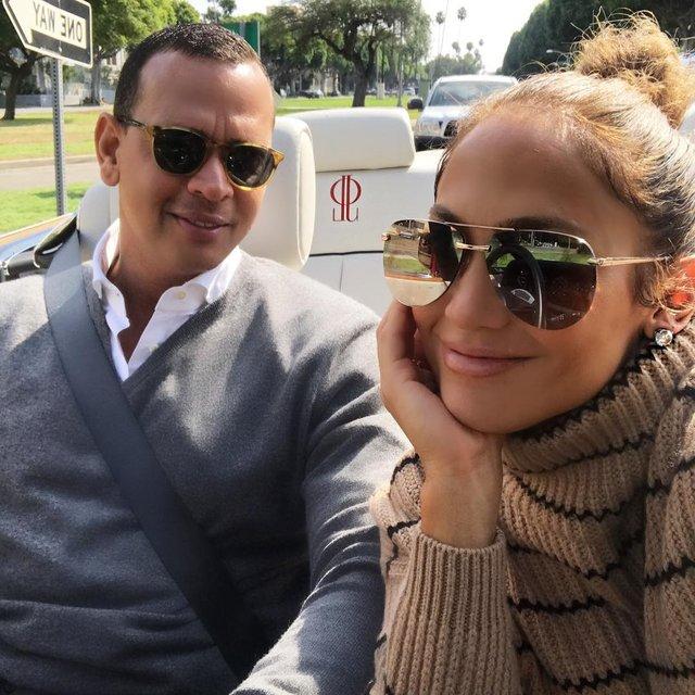 Дженнифер Лопес и Алекс Родригес - фото 83981