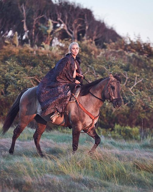 Леди Гага снялась обнаженной на коне (фото) - фото 93726