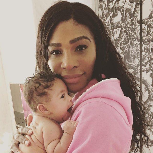 Серена Уильямс с дочкой - фото 88191