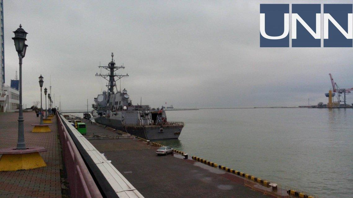 Эсминец 'Джеймс Уильямс' в Одессе 2017 год - фото 93617