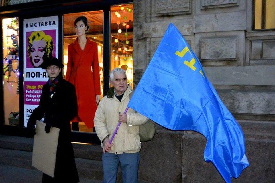 Акция в поддержку крымских татар - фото 91334