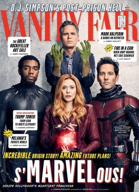 Юбилей киновселенной: Герои Marvel появились на обложках Vanity Fair - фото 93592