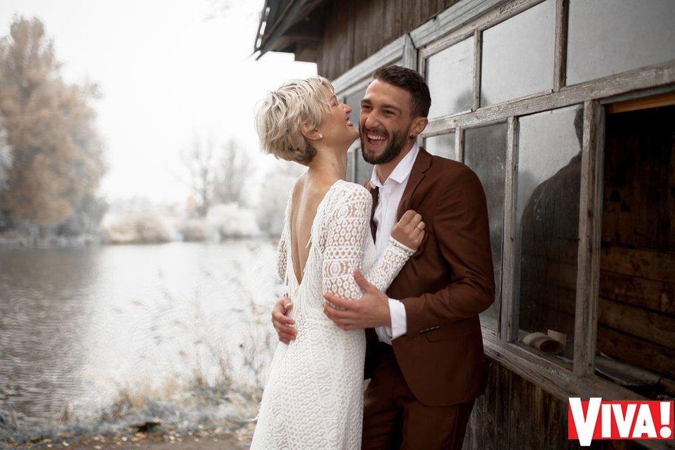 В сети появились свадебные снимки участников 'Голоса країни' Веры Кекелии и Романа Дуды - фото 94011