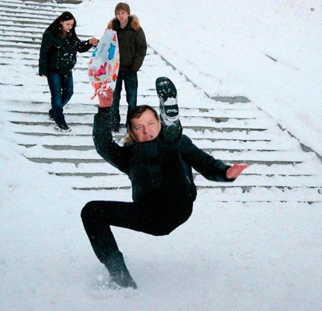 Порошенко, Гройсман и ко: Украинские политики на льду - фото 98041