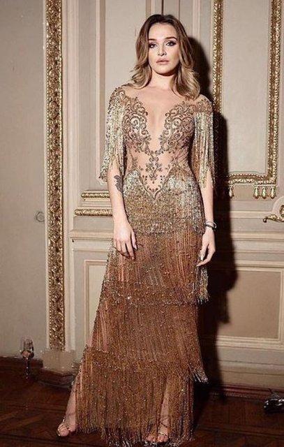 В прозрачном платье и без бюстгальтера: Дочь Михаила Добкина стала моделью (фото) - фото 94311