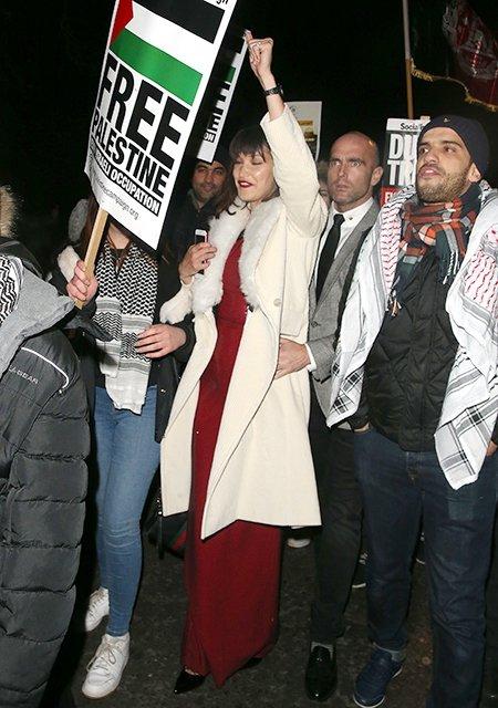 Белла Хадид выступила на митинге - фото 96051
