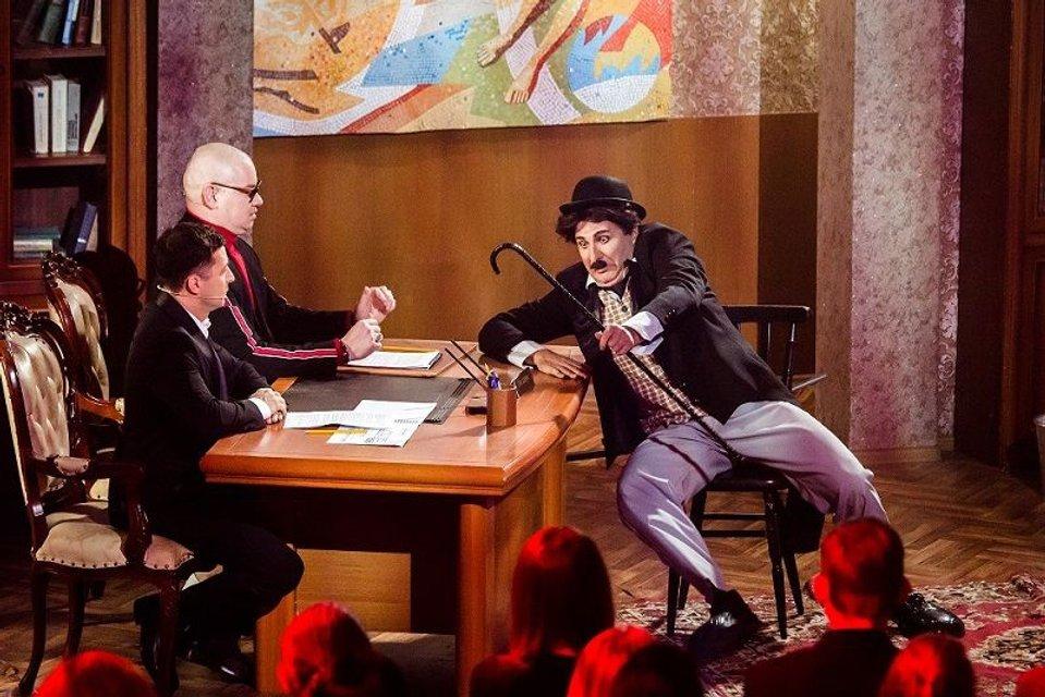 Вечерний Киев 2017 7 сезон 4 выпуск: Юрий Горбунов в образе Чарли Чаплина - фото 97363
