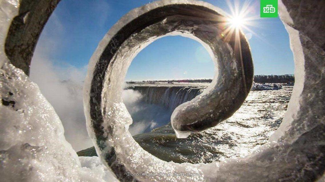 Замерзший Ниагарский водопад - фото 100270