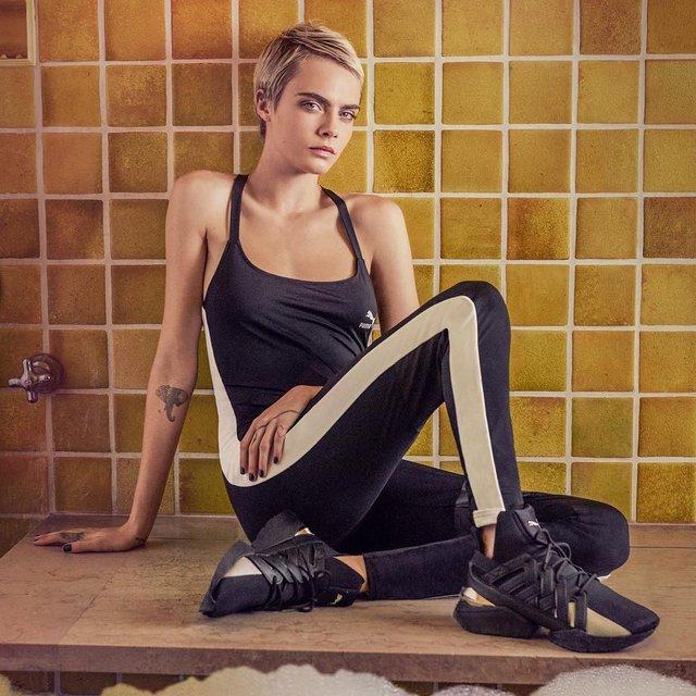 Кара Делевинь в ванной с пеной снялась для рекламы Puma (фото) - фото 95055