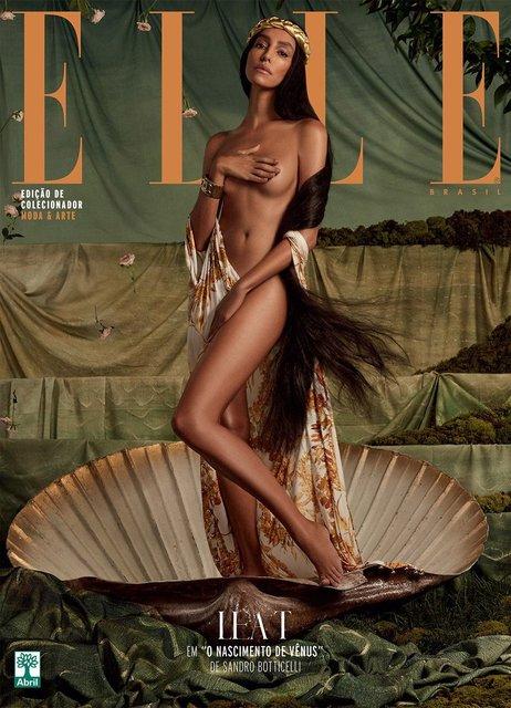 Elle воспроизвел на обложке работы Климта и да Винчи с обнаженными моделями - фото 95814