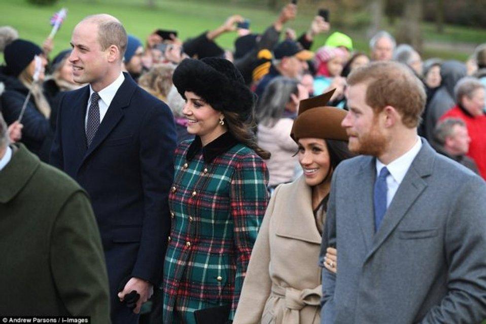 Кейт Миддлтон, Меган Маркл, принцы Уильям и Гарри - фото 99183