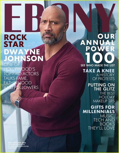 Дуэйн Джонсон на обложке Ebony - фото 94400