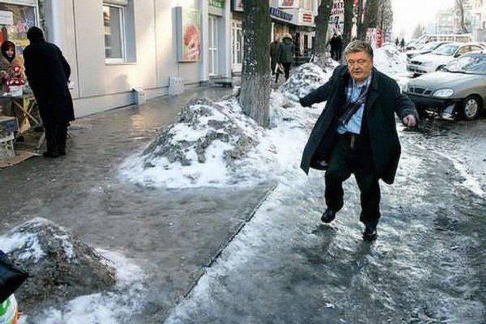 Порошенко, Гройсман и ко: Украинские политики на льду - фото 98038