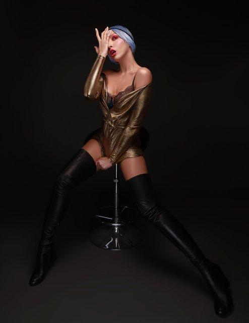 Оля Полякова рассталась с платиновым цветом волос (фото) - фото 100082
