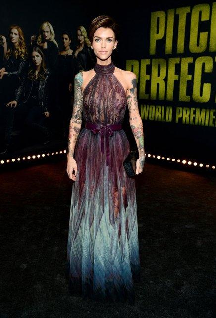 Идеальный голос-3: популярная ведущая пришла на премьеру в прозрачном платье - фото 96802