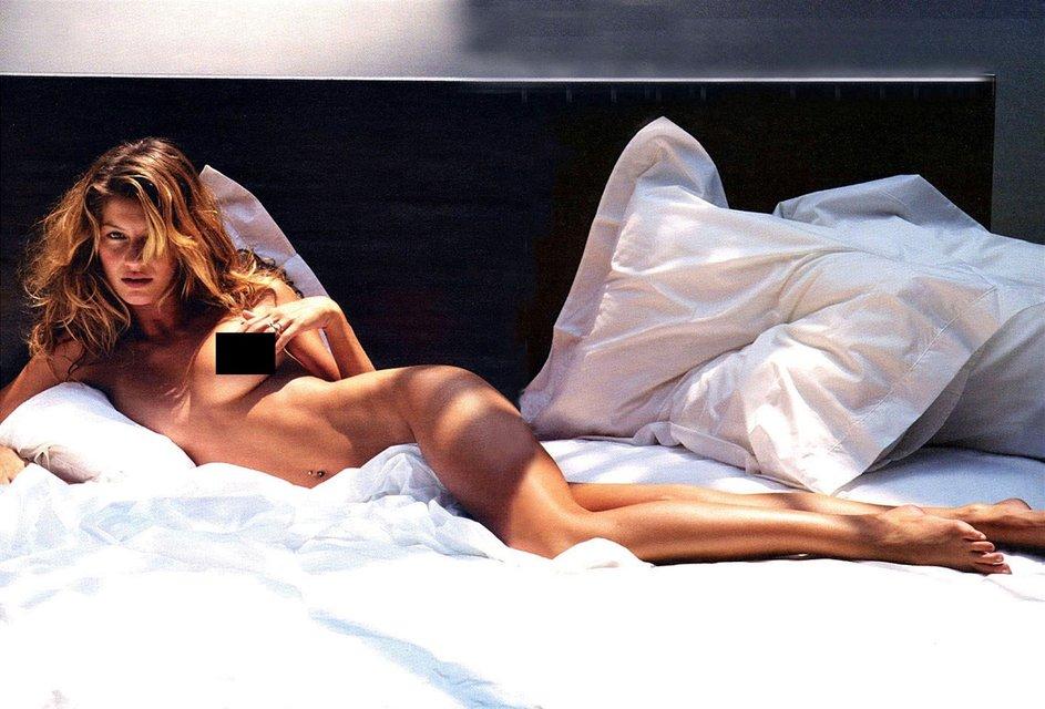 Интимные фото обнаженной супермодели Жизель Бюндхен слили в сеть - фото 99233