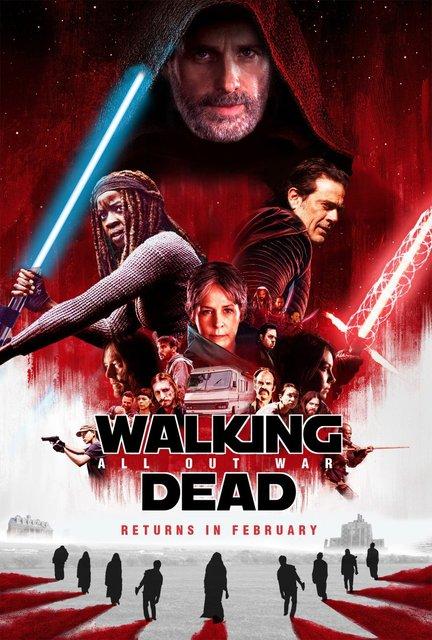 Ходячие мертвецы оригинально поздравили Звездные войны с премьерой - фото 97727
