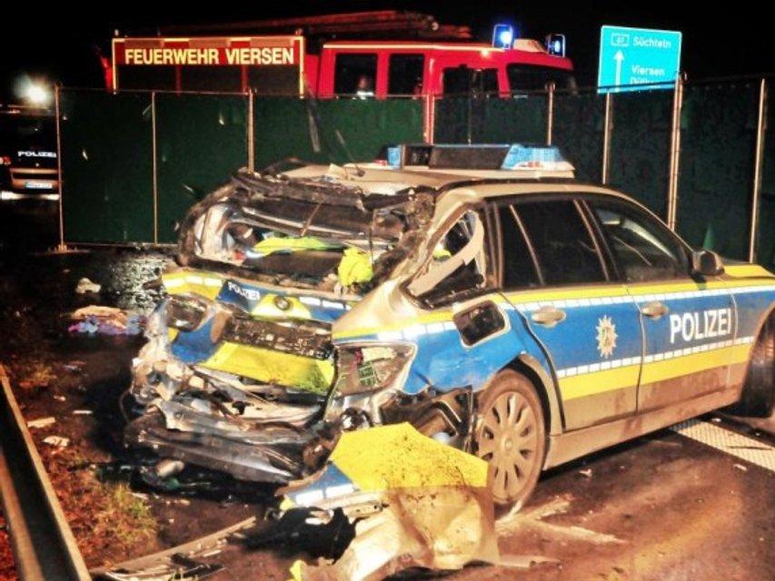 Пьяный украинец протаранил полицейское авто в Германии: новые подробности - фото 100012