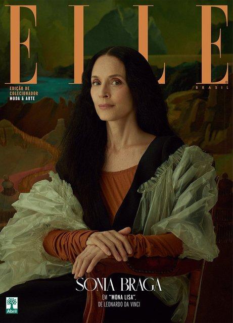Elle воспроизвел на обложке работы Климта и да Винчи с обнаженными моделями - фото 95815