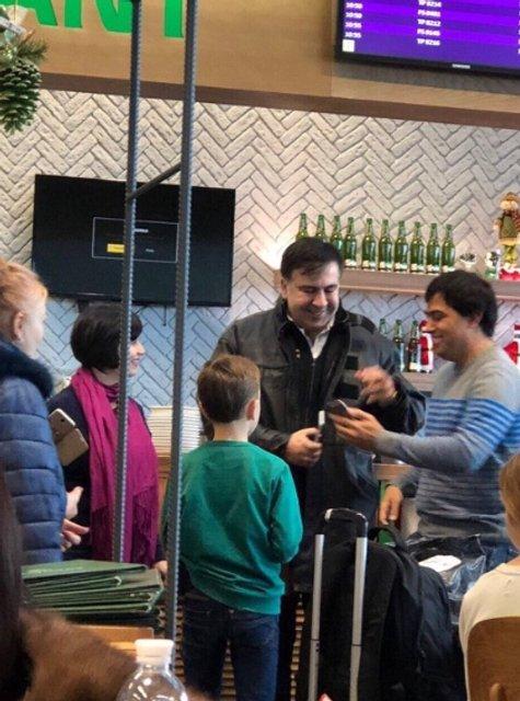 Михеил Саакашвили в Борисоле - фото 99090