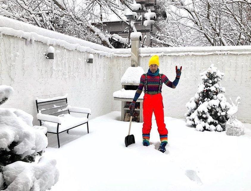 Сергей Бабкин голышом обтерся снегом и послал всех в баню - фото 104029