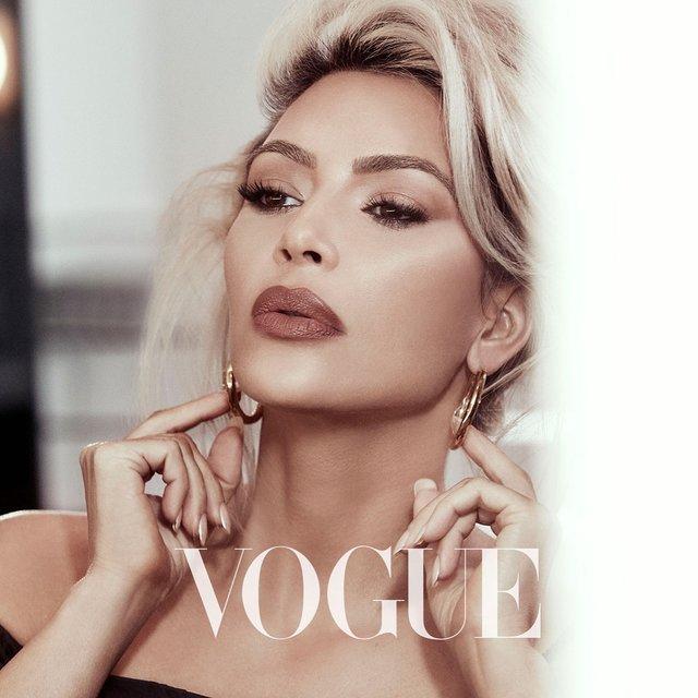 Шикарная Ким Кардашьян украсит обложку Vogue - фото 107505