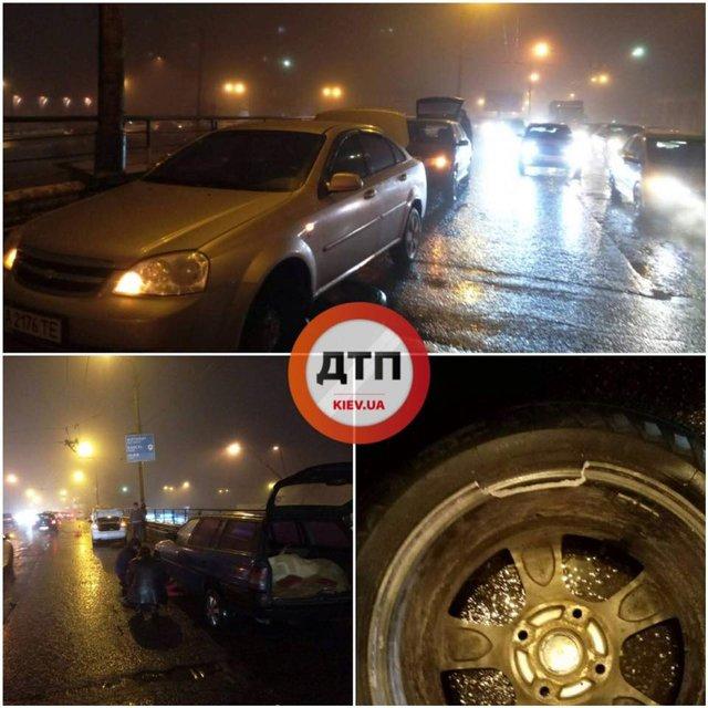 Ситуация на мосту в Киеве - фото 107711