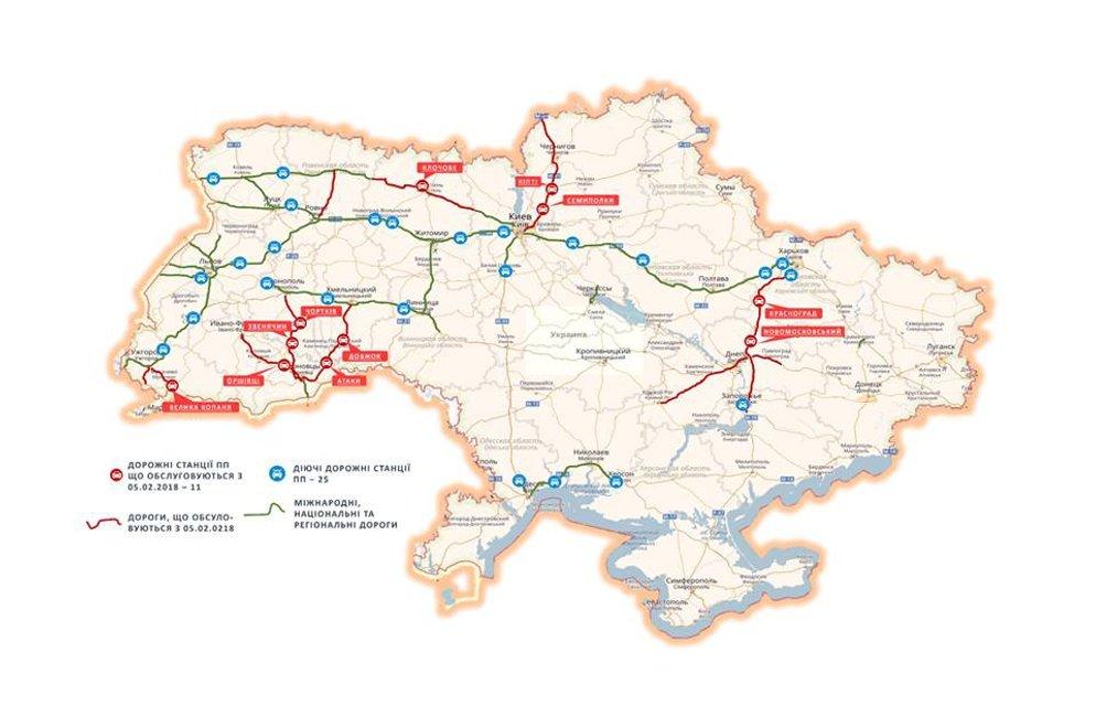 Появилась карта дорог, на которых началось патрулирование дорожной полиции - фото 106624