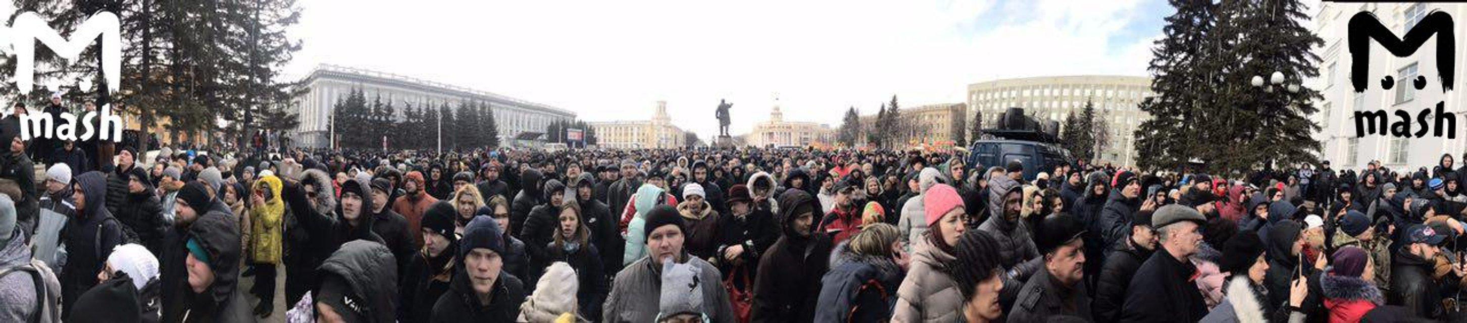 Губернатор Тулеев извинился перед Путиным за пожар в 'Зимней вишне' - фото 116053