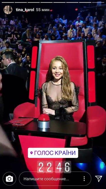 Тина Кароль без белья в откровенном платье вышла на сцену Голоса країни - фото 119707