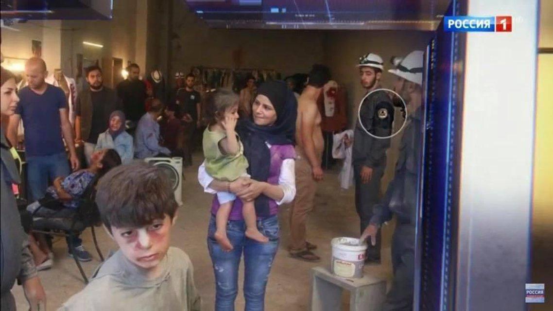 Россияне выдали кадры из фильма за доказательства отсутствия химической атаки в Сирии - фото 120546