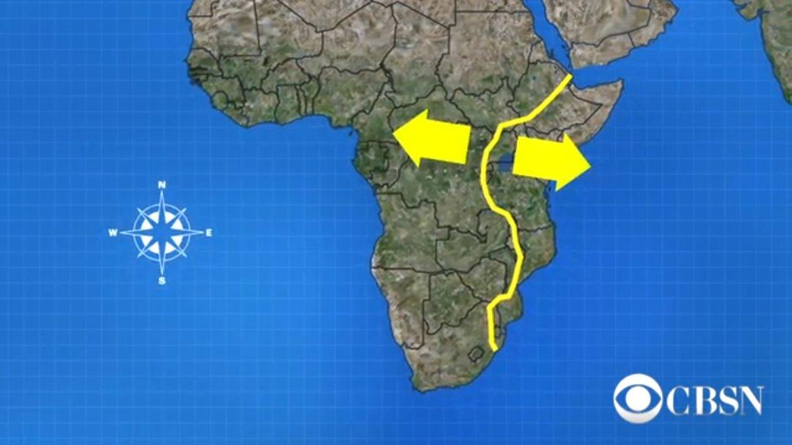 Африка может расколоться на две части примерно через 50 млн лет - фото 118164
