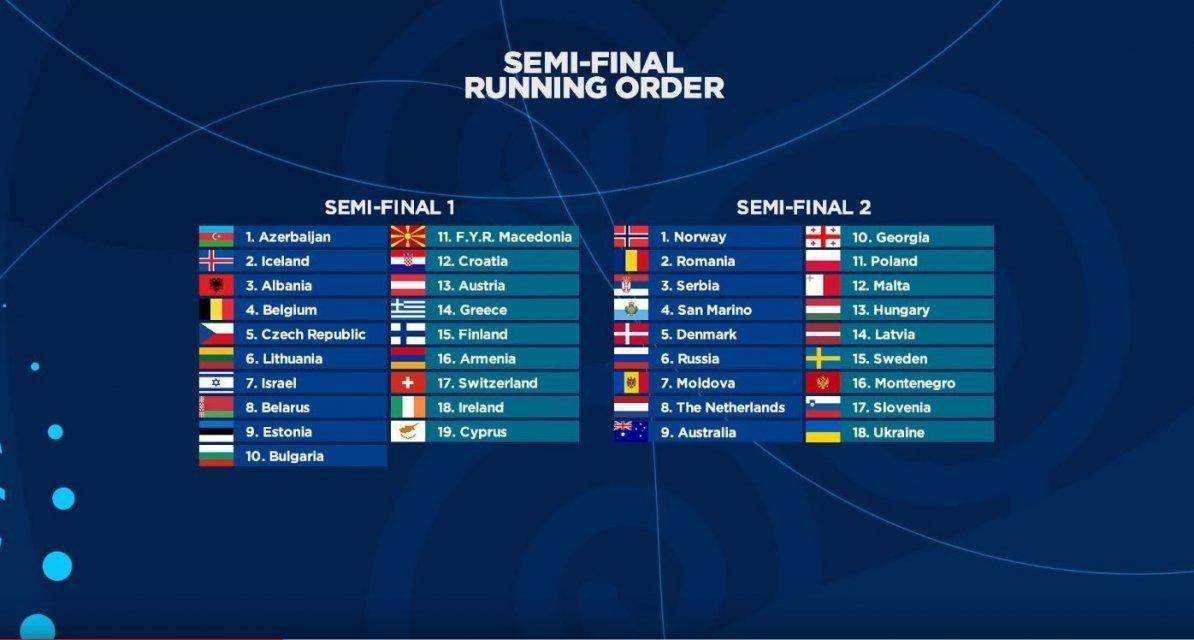 Евровидение 2018: все участники конкурса и порядок выступлений - фото 119305