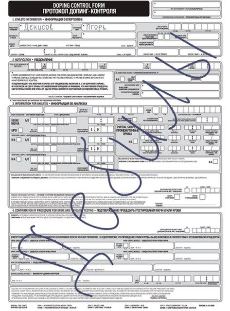 Российский футболист на протоколе допинг-контроля написал слово 'дебилы' - фото 120937