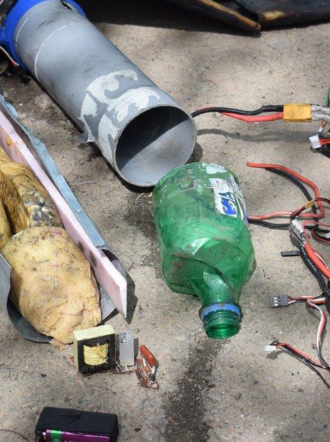 В зоне АТО обнаружили новый беспилотник боевиков со взрывчаткой - фото 118196