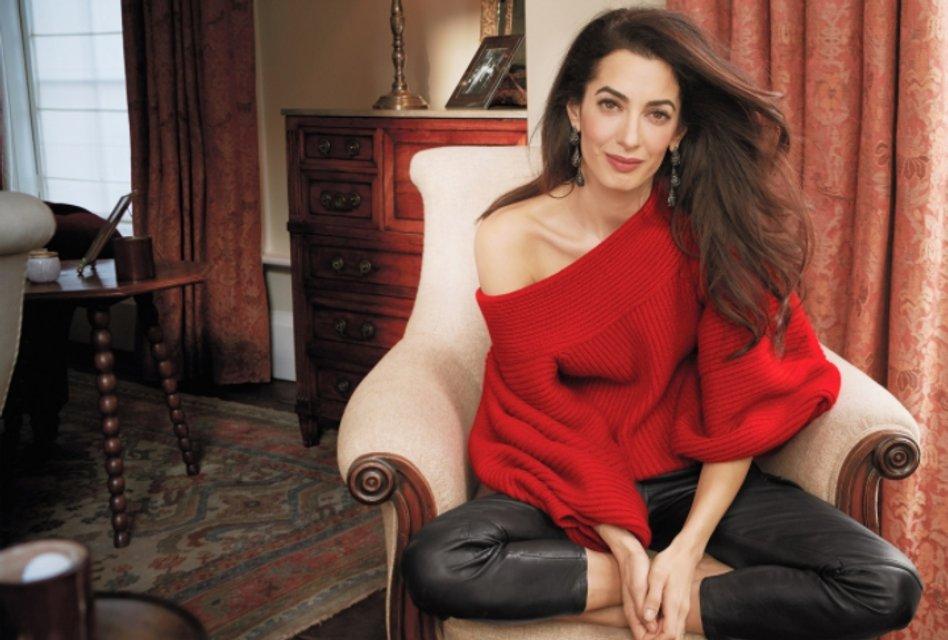Амаль Клуни впервые позировала для глянца - фото 118651