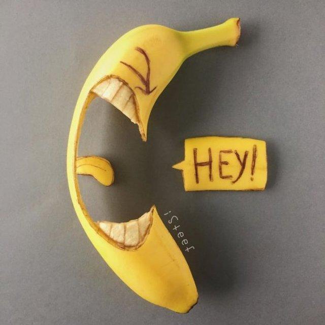 Художник из Нидерландов создает картины на шкурках бананов(фото) - фото 118319