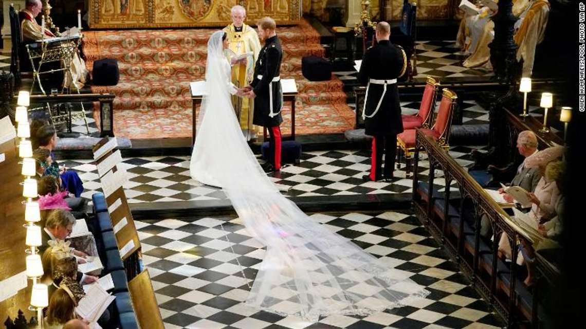 Меган Маркл и Принц Гарри стали мужем и женой (ФОТО) - фото 126003