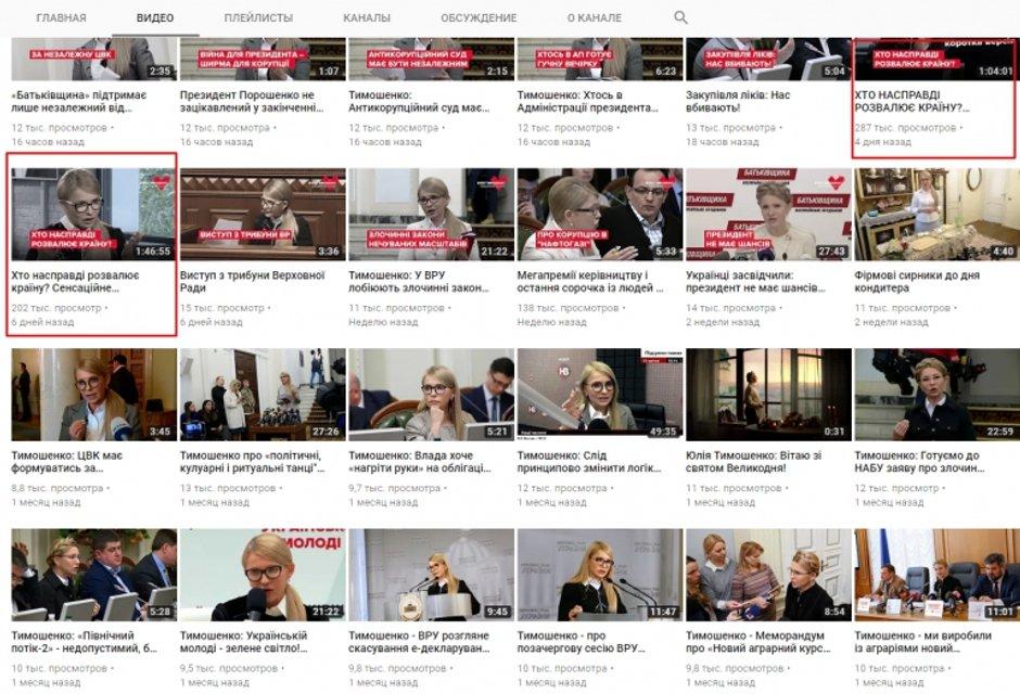 Тимошенко потратила за неделю больше 1 млн на свою рекламу - фото 126686