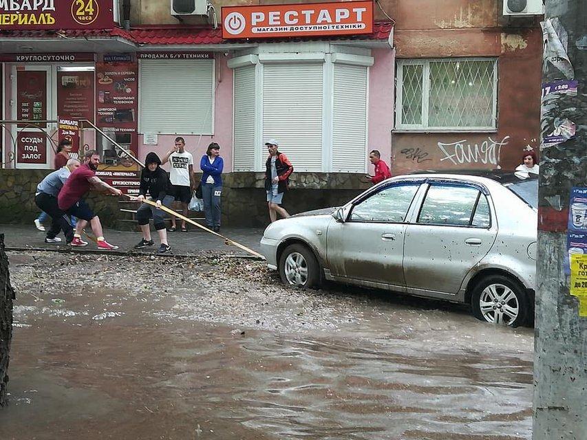 Херсон затопило после сильного дождя (фото) - фото 126241