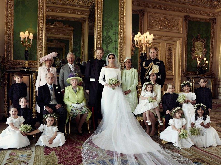 Свадьба принца Гарри и Меган Марк: в сети появились первые семейные фото - фото 126326