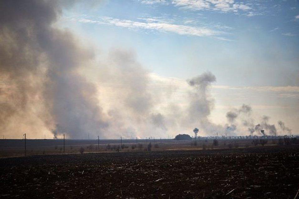 Спасатели локализировали основные очаги возгорания в Балаклее - фото 123057