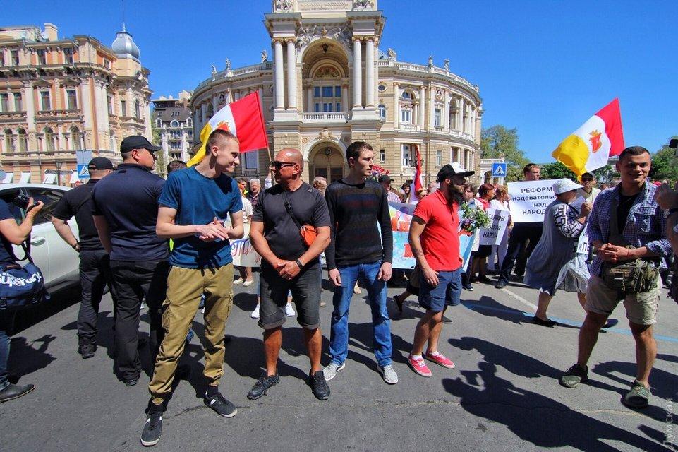В Одессе сорвали пророссийский митинг в честь 'трудящихся' - фото 122669